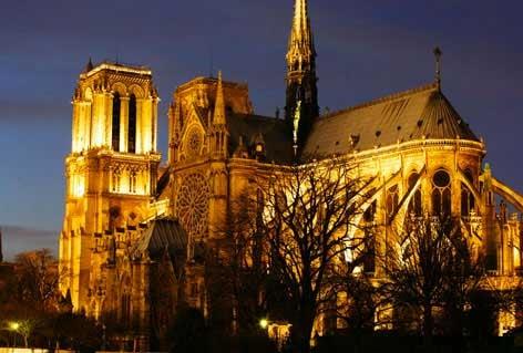 Cathédrale  Notre Dame, à Paris.