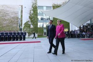 Emmanuel Macron chez Angela Merkel :  1ère visite officielle  à Berlin, 15 mai 2017.