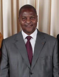 Chef d'Etat centrafricain Faustin Archange Touadéra