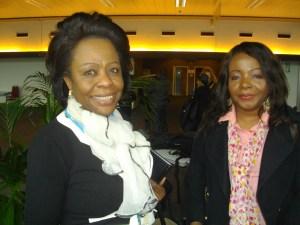 Journaliste Violette Luba et Dr Kinduelo