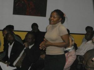 Présidente du Mouvement des Africain-Français Calixthe Beyala parle.