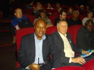 Le député-maire Jacques Krabal et le journaliste Lilo Miango