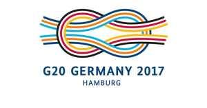 Logo du G20 de la présidence allemande sous Angela Merkel.