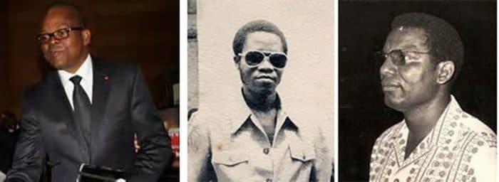 Mabusa Eseka Dieudonné (Pdt.Fédération du Basket), Ndunga Ndunga et Pdt. Philippe Babinyanga (BC VITA Club)