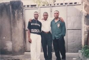 A Kinshasa: Claude,Nila et Jim.