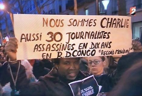 Photo du 11 janvier 2015 lors de la Marche Républicaine à Paris ,suite à des assassinats des  journalistes français de Charlie Hebdo.