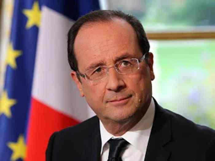 Le président français François Hollande.