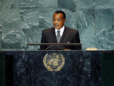Chef d'Etat congolais Sassou N'Guesso Denis