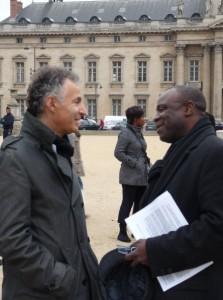 François Zimeray et Lonsi Koko, à Paris