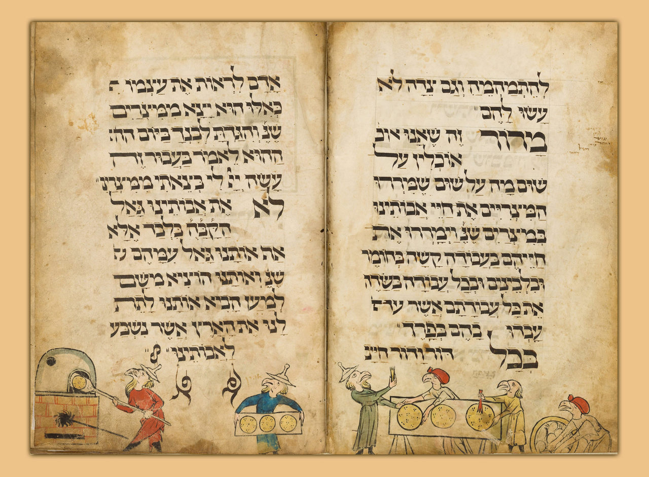 קווי עזר בהגדה מימי הביניים