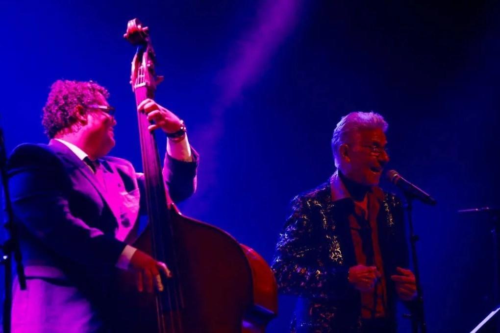 Gastón Joya y Bobby Carcassés en la sala Covarrubías del Teatro Nacional de Cuba, en el Festival Jazz Plaza 2019. Foto: Gabriel Guerra Bianchini.