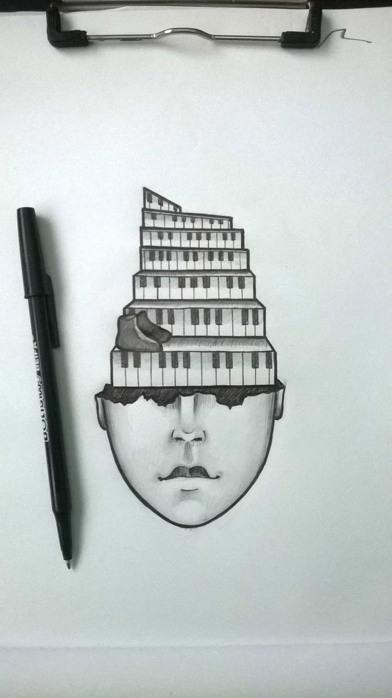 Inktober Día 20: Tread. Ilustración: Lisset Cabrera Esquijarosa / Magazine AM:PM.