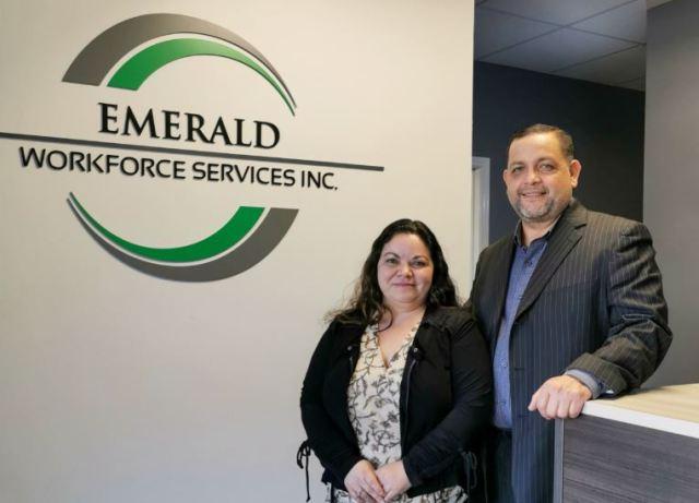 Alma y Oscar Maldonado, directores de la compañía Emerald workforce services Inc,
