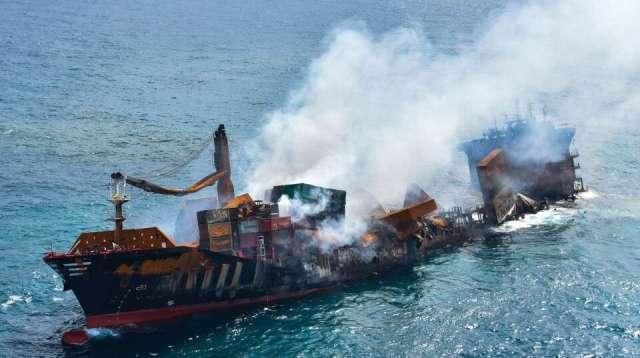 Sri Lanka está ante un eminente desastre ambiental tras hundimiento de un barco