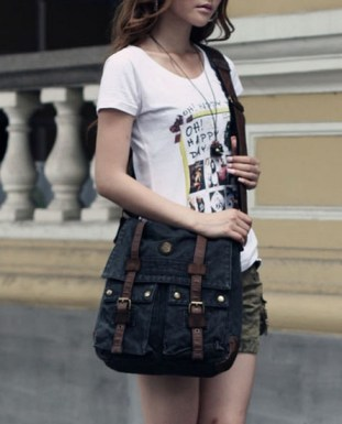 Black-Heavy-Duty-Shoulder-Messenger-Bag-for-women