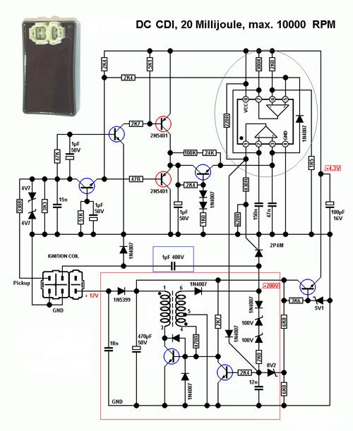 Принцип работы электронного зажигания DC-CDI