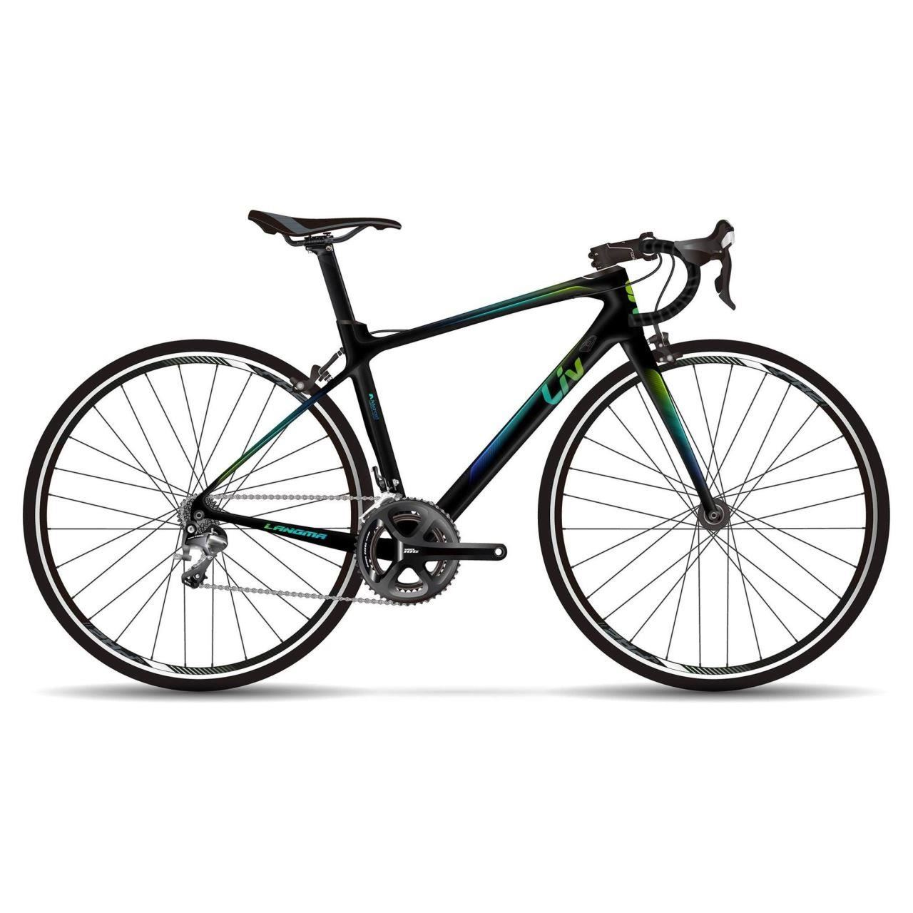Bicicleta Liv Langma Advanced 2 BLACK/BLUE/GREEN 2018