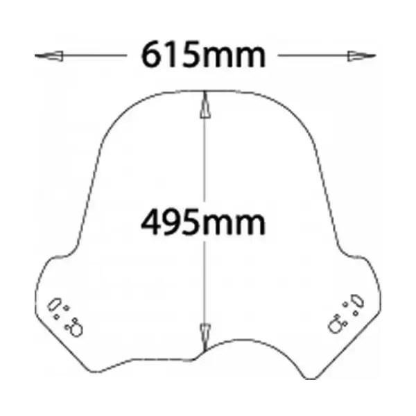 Cupolino Isotta tipo adventure per BMW R1150GS 00-03