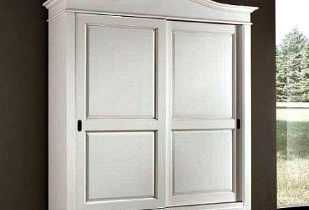 CLASSICO armadio Shabby Chic bianco 2 ante scorrevoli e cassetti guardaroba 1398  eBay