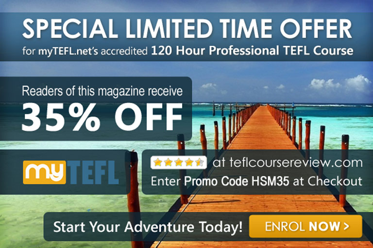 Teach English online - special 35% off offer