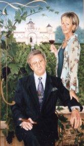De Heer en Mevrouw Luc Ceulemans, olieverf op paneel, 70x130cm