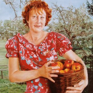 Portret van Daniëlle, olieverf op paneel, 41x51cm