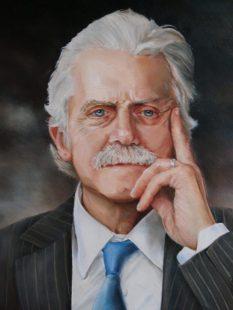 Portret van Hugh Francot, olieverf op paneel, 30x40cm