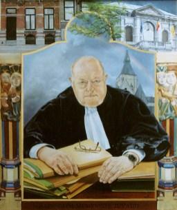 Portret van J. De Mey, olieverf op paneel, 70x85cm