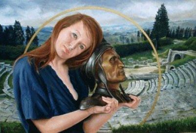 Dante in Goede Handen, olieverf op paneel, 76x56cm