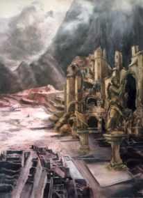 De Geest van de Ruïne, olieverf op paneel, 63x78cm