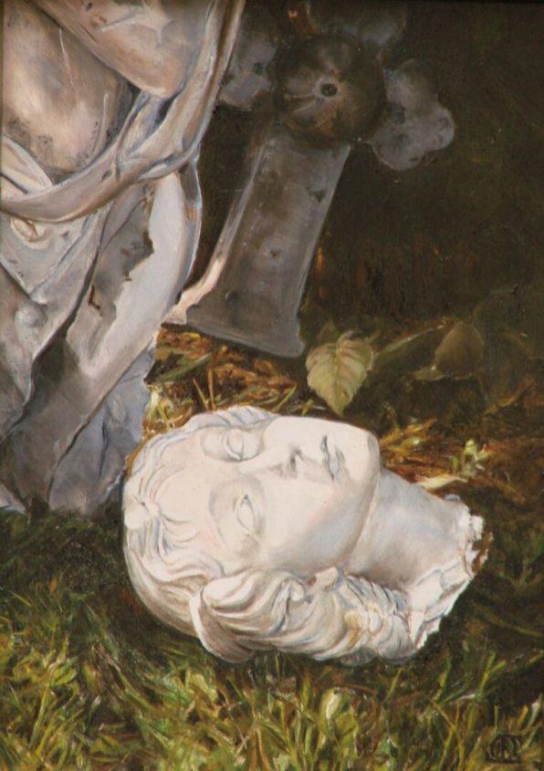 De Gevallen Engel, olieverf op paneel, 14x19cm