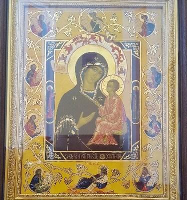 Хлебная икона Божьей Матери