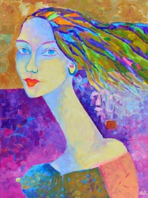 portret kobiety Magdalena Walulik_ malarstwo współczesne polskie_obraz na sprzedaż