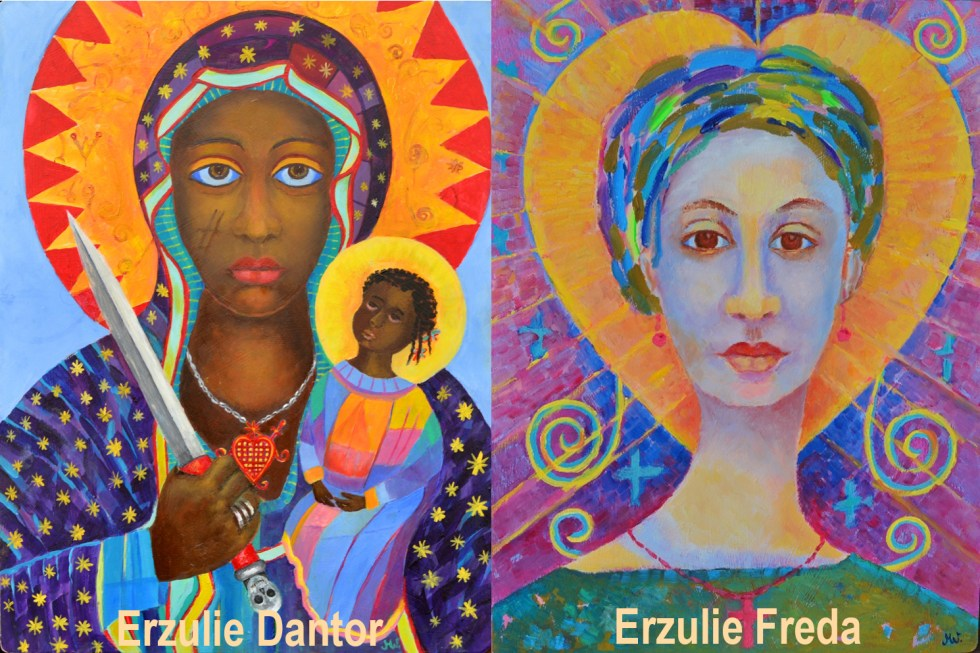 erzulie freda and erzulie dantor painting
