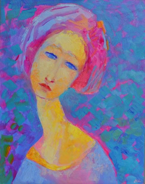 małe obrazki olejne - portret olejny mały obrazek