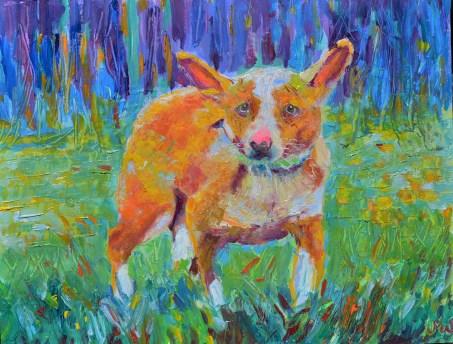 portret psa na zamówienie obraz olejny impresjonizm