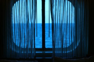 This is the oceanview from an oceanview stateroom.