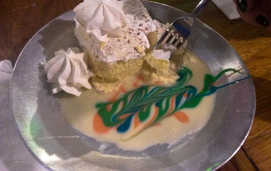 A traditional Puerto Rican dessert...alledgedly...served at Raices.