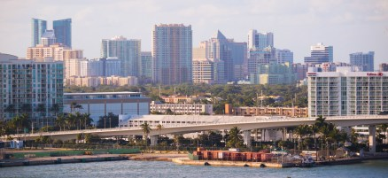 The view of downtown as we were pulling out of the port.
