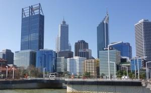 The Perth skyline.