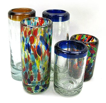 Shot Glasses  Tequila Shots and Holders Mexican Glass