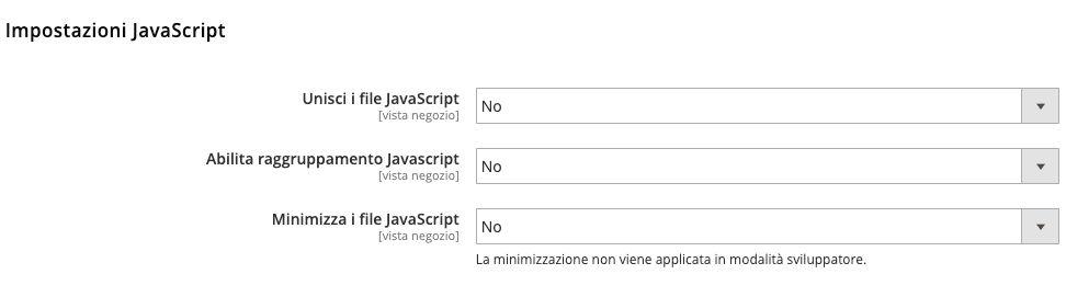 Come Abilitare la minificazione dei Javascript in Magento 2