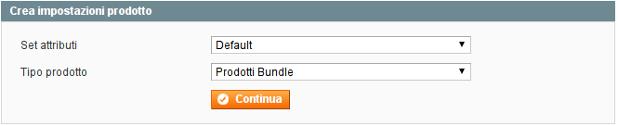bundle product creazione