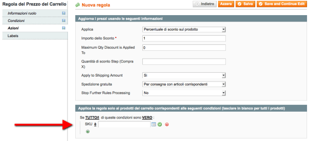 coupon sconto magento