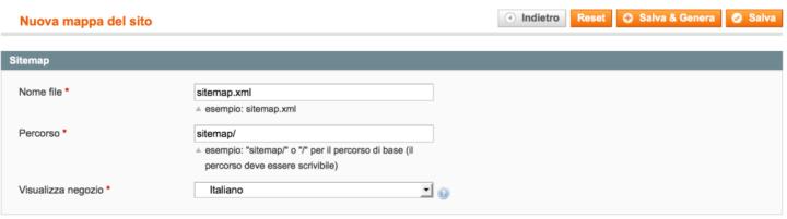 Magento Come Creare una Sitemap XML 3
