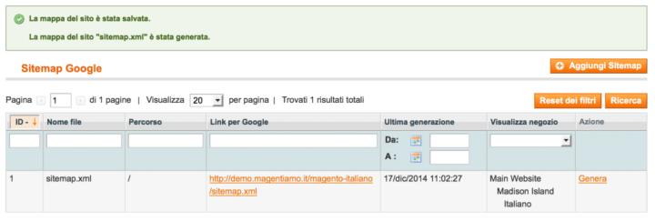 Magento Come Creare una Sitemap XML 4