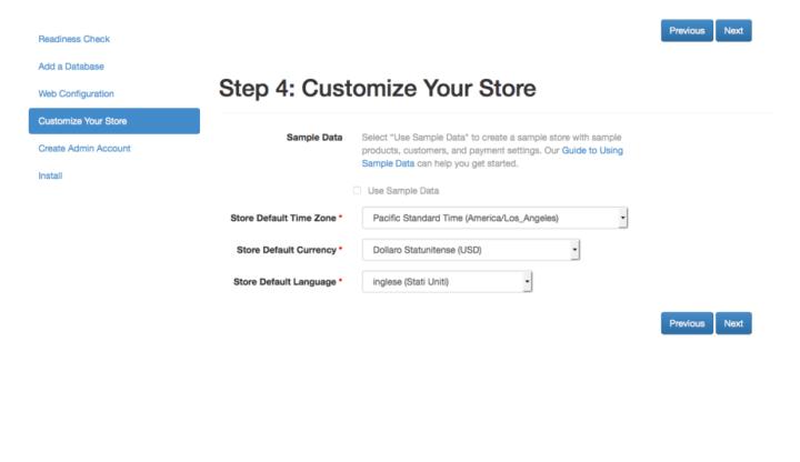 Installazione Magento 2 personalizzare store