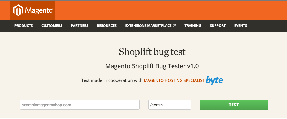 Magento Security Test
