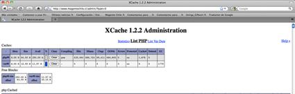 admin Xcache