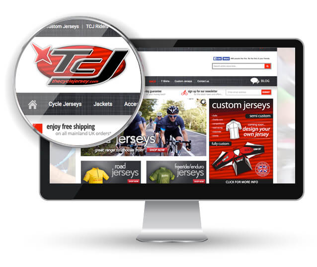 cycle website design glasgow desktop